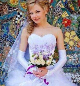 Свадебная прическа и визаж