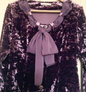 Блуза из бархата