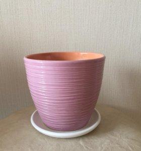 Горшок цветочный керамический
