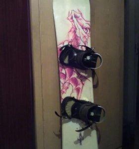 Сноуборд с креплениями 163 см