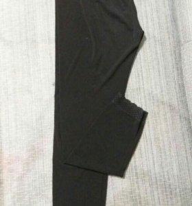 Легинсы черные с кружевом. Р46-50