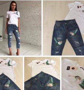 Костюм ( джинсы+футболка)