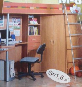 Уголок школьника, кровать-чердак(матрас в подарок)