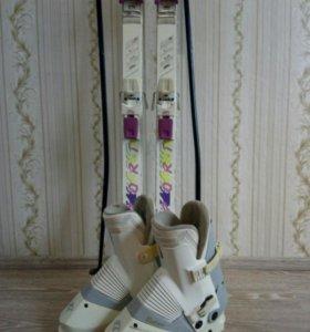 Лыжи Fischer ГОРНЫЕ,палки,боты