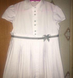 Школьная блузка, рост 128