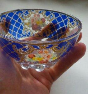 Оригинальная стеклянная креманка, Германия 70-ые г