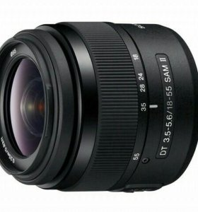 объектив Sony 18-55мм DT F3.5-5.6 SAM II + бленда