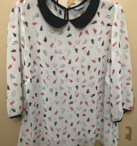Полупрозрачная блуза Marks Spencer