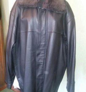Куртка мужская кожаная зимняя р.60-62