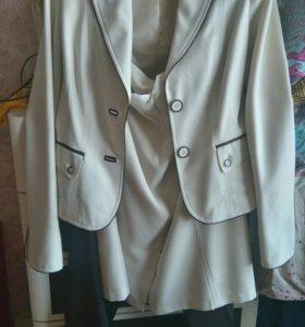 Костюм тройка. Пиджак + брюки + юбка.