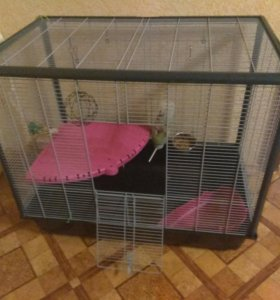 Клетка для кролика с аксессуарами