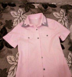 Рубашка школьная для девочки,8-9 лет