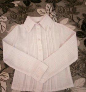 Рубашка школьная для девочки 7-8 лет