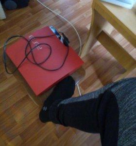 PS3 (красный корпус)игровой геймпад (красный)6игр