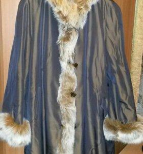 Пальто женское на кролике.