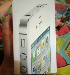 Коробка и доки IPhone 4s 8gb