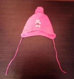 Теплая шапка. 6-12мес