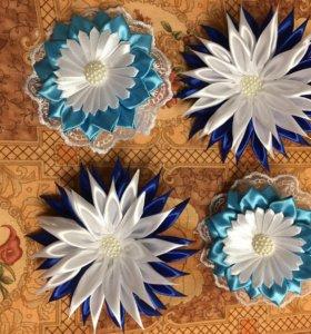 Резинки и заколки для волос канзаши