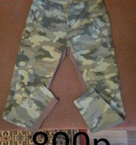 Камуфляжные штаны женские,размер m+