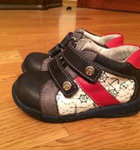 Кожа ботинки для мальчика