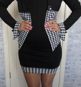 Костюм (платье с пиджаком), новое, (размер 44-46)