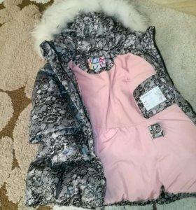 Зимняя куртка, сапожки и шапка