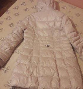 Удлиненная куртка с капюшоном, зимняя теплая