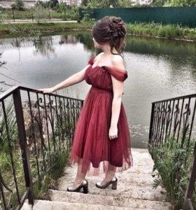 Выпускное платье из фатина