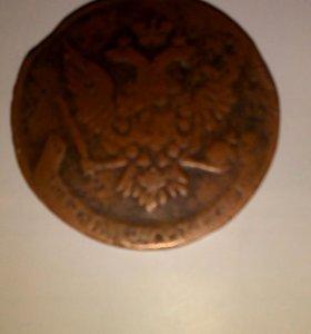 Старинная монета 1759 года