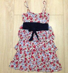 Летнее платье в цветочек / сарафан