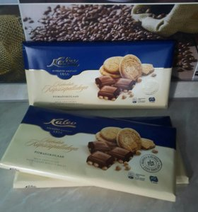 Kalev шоколад с печеньем
