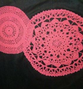 нитки:вискоза; цвет-фуксия (ярко-розовый); 9 и 14