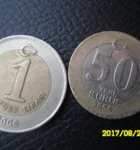 Турецкие монетки. 2006