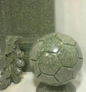 Сувенирные футбольные мячи из камня. Заказ.