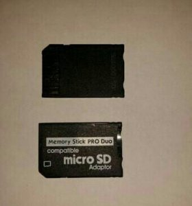 Адаптер с Micro SD на MS Pro Duo для PSP
