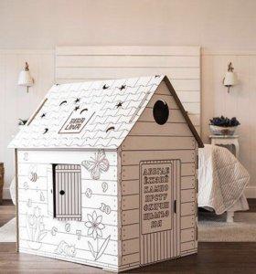Домик-раскраска из картона