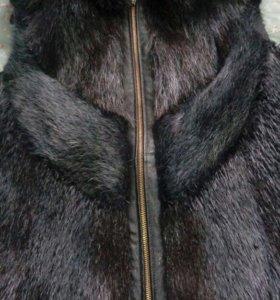 Меховая жилетка из нутрии