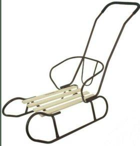 Санки-трансформер с мягким водоотталкив.сиденьем