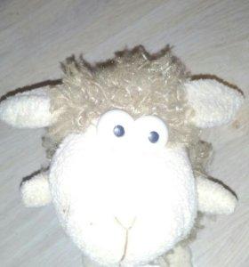 Говорящая овечка, игрушка-повторюшка.