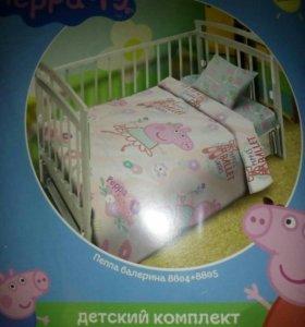 Новый! Комплект постельного белья в кроватку