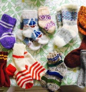 Детские шерстяные носочки новые