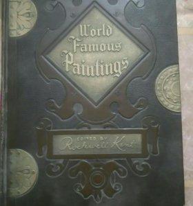 Винтажная книга World famous painting 1947
