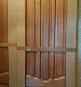 Межкомнатные двери (деревянные, светлый палисандр)
