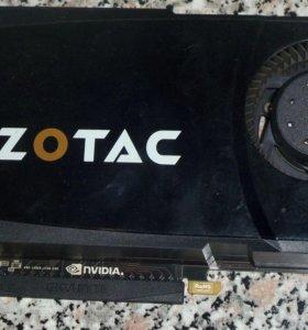 Видеокарта zotac GeForce GTX 470 3348 Mhz 320 bit