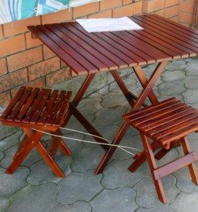 Коплект 4 стула и стол