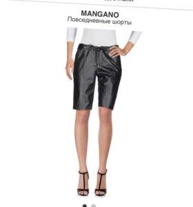 Новые Итальянские кожаные шорты Mangano оригинал