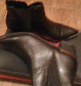 Ботинки черные кожаные