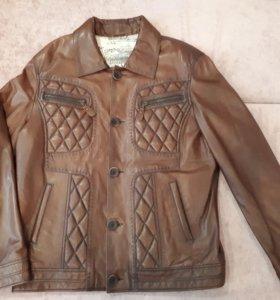 Новая!Нат.кожа,мужская куртка, XL(52)