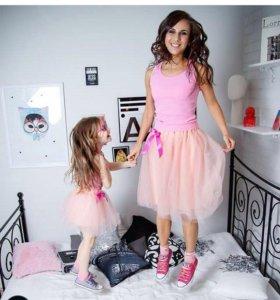 Юбки-пачки для мамы и дочки