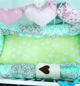 Бортики, подушка для беременных
